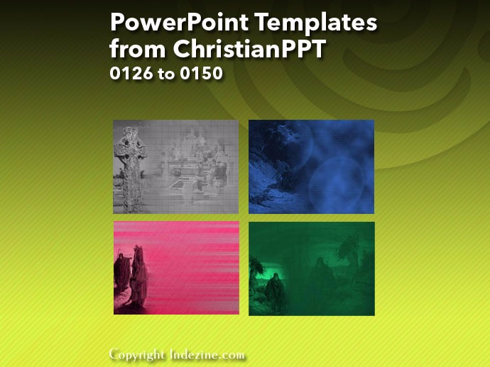 PowerPoint Templates from ChristianPPT 006: Designs 0126 to 0150