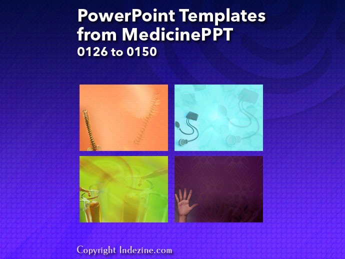 PowerPoint Templates from MedicinePPT 006: Designs 0126 to 0150