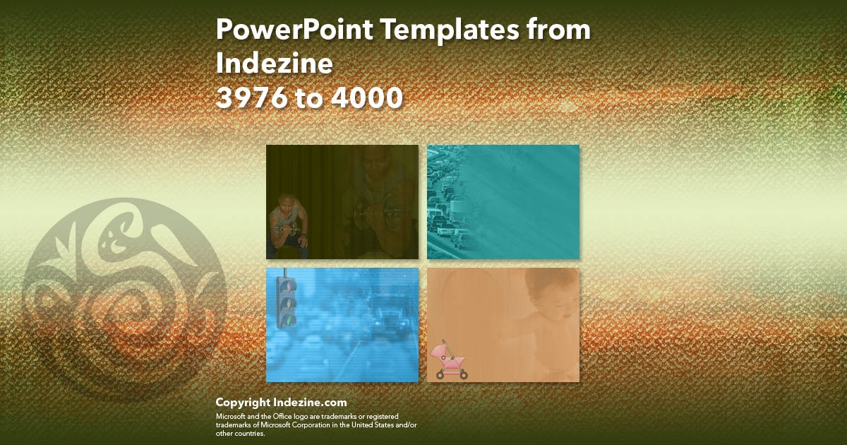 PowerPoint Templates from Indezine 160: Designs 3976 to 4000