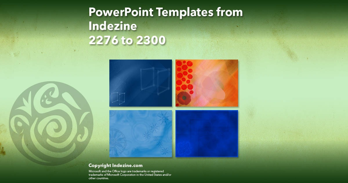 PowerPoint Templates from Indezine 092: Designs 2276 to 2300