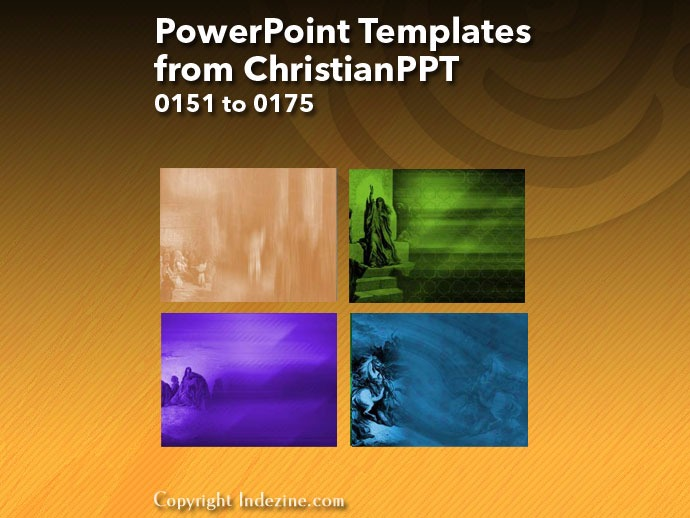 PowerPoint Templates from ChristianPPT 007: Designs 0151 to 0175