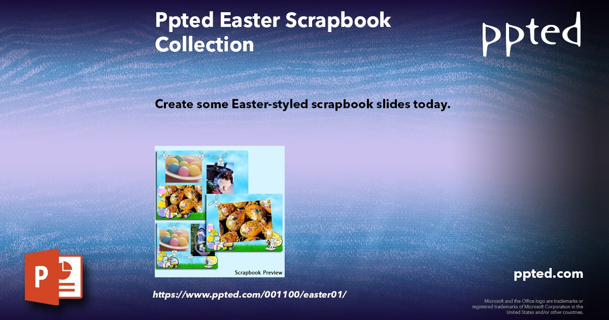Ppted Easter Scrapbook Collection
