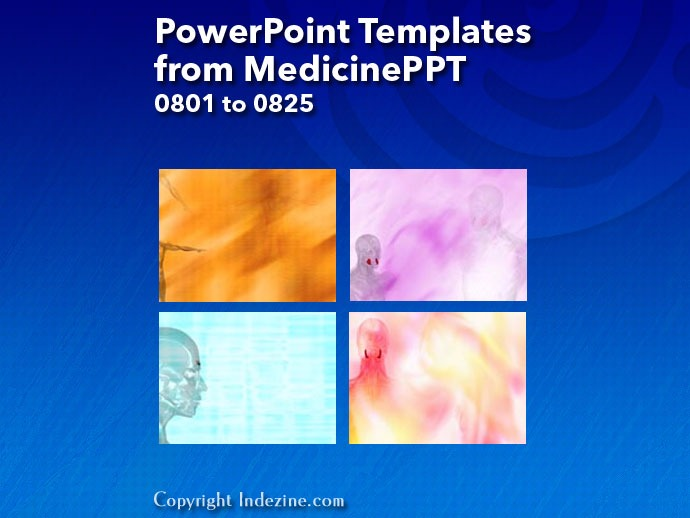 PowerPoint Templates from MedicinePPT 033: Designs 0801 to 0825