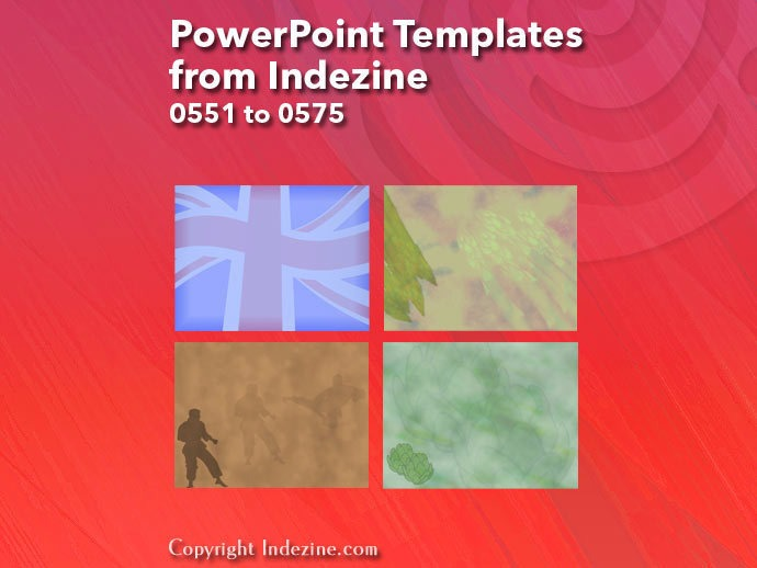 PowerPoint Templates from Indezine 023: Designs 0551 to 0575
