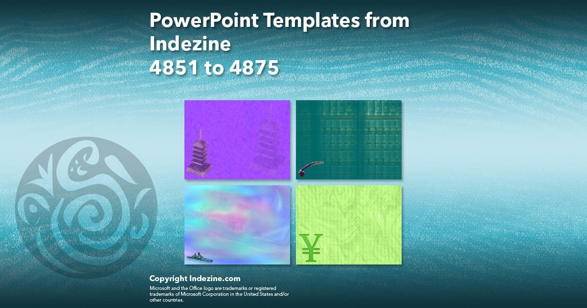 PowerPoint Templates from Indezine 195: Designs 4851 to 4875