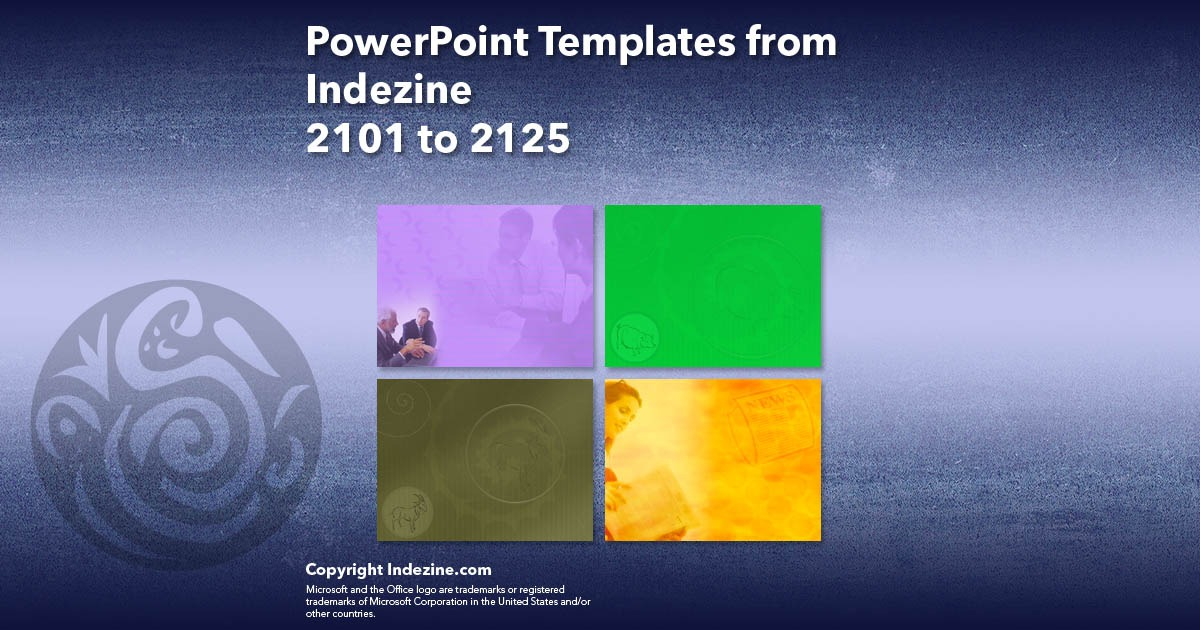 PowerPoint Templates from Indezine 085: Designs 2101 to 2125