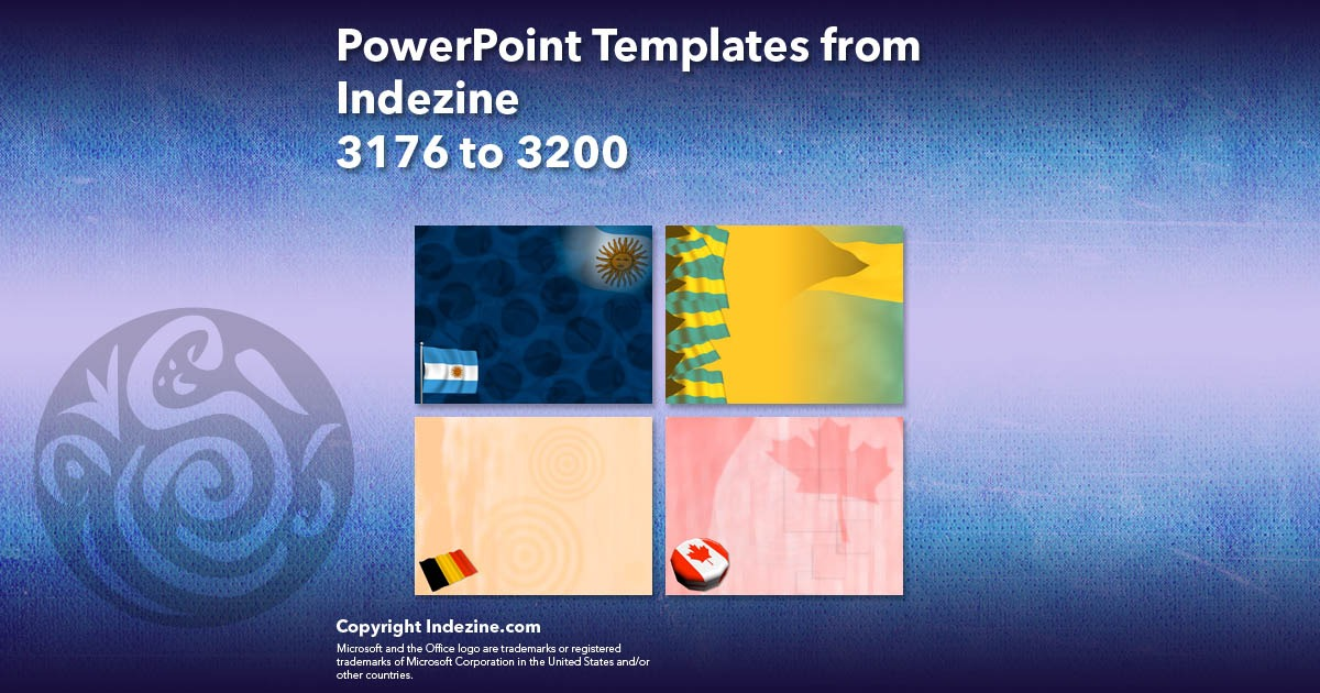 PowerPoint Templates from Indezine 128: Designs 3176 to 3200