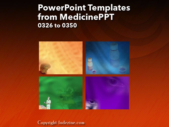 PowerPoint Templates from MedicinePPT 014: Designs 0326 to 0350