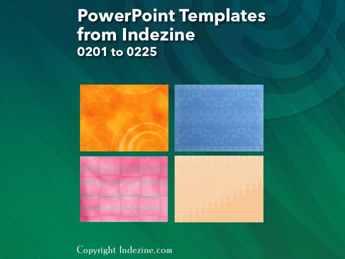 PowerPoint Templates from Indezine 009: Designs 0201 to 0225