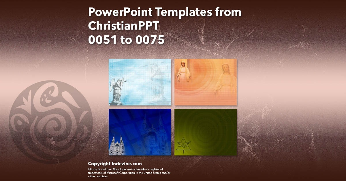 PowerPoint Templates from ChristianPPT 003: Designs 0051 to 0075