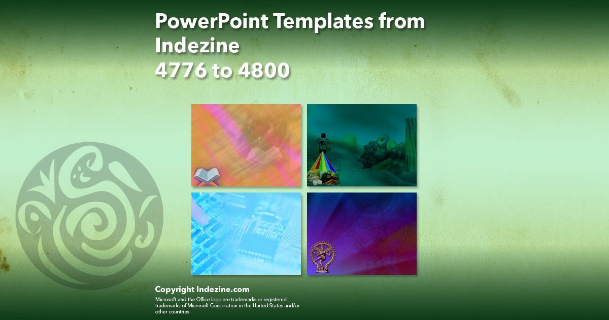 PowerPoint Templates from Indezine 192: Designs 4776 to 4800