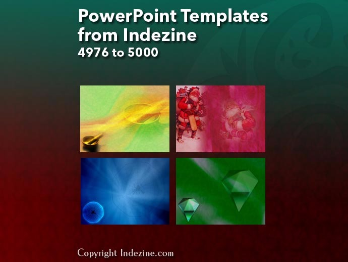 PowerPoint Templates from Indezine 200: Designs 4976 to 5000