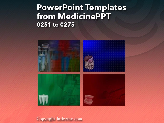 PowerPoint Templates from MedicinePPT 011: Designs 0251 to 0275