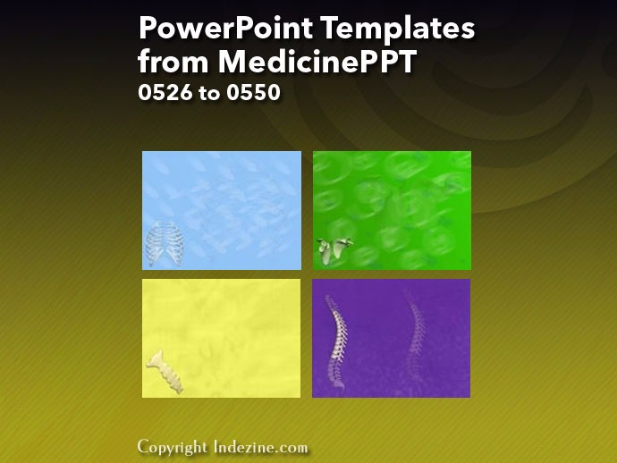 PowerPoint Templates from MedicinePPT 022: Designs 0526 to 0550