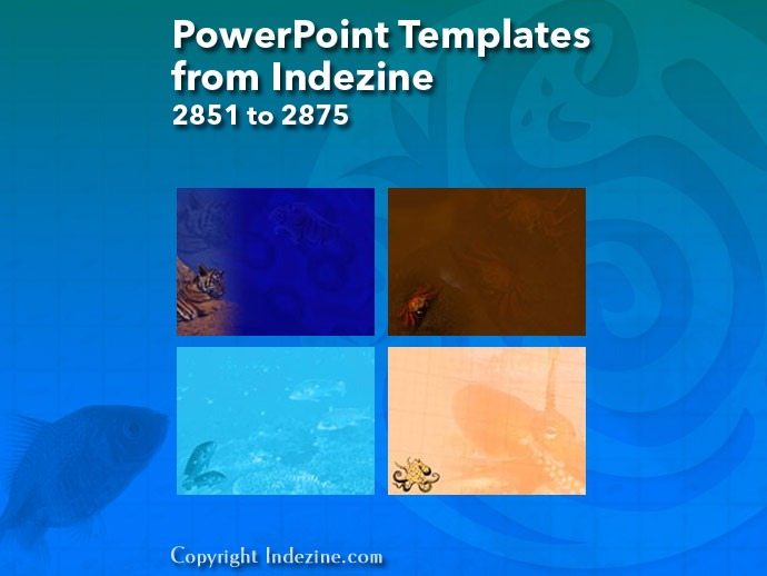 PowerPoint Templates from Indezine 115: Designs 2851 to 2875
