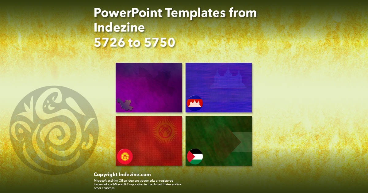 PowerPoint Templates from Indezine 230: Designs 5726 to 5750