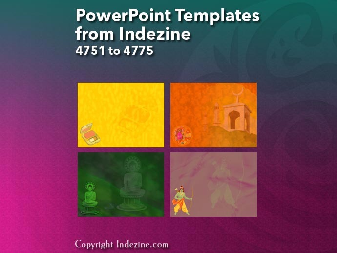 PowerPoint Templates from Indezine 191: Designs 4751 to 4775