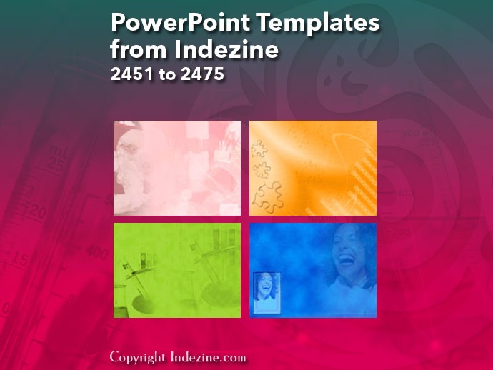 PowerPoint Templates from Indezine 099: Designs 2451 to 2475