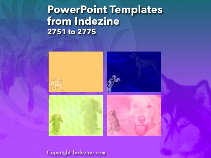 PowerPoint Templates from Indezine 111: Designs 2751 to 2775