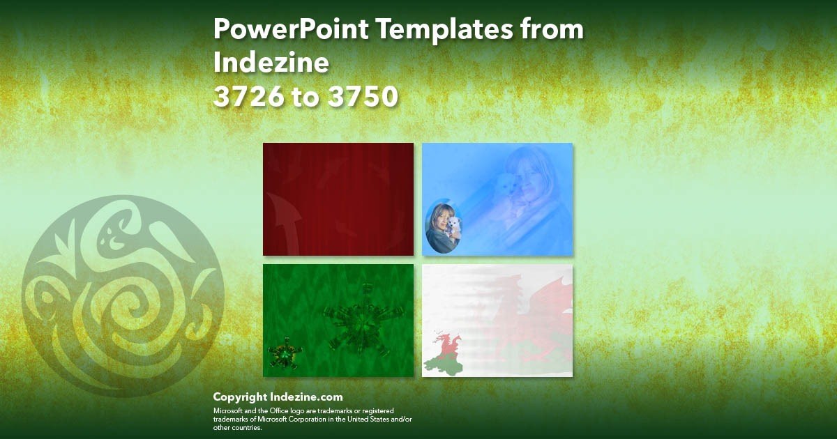 PowerPoint Templates from Indezine 150: Designs 3726 to 3750