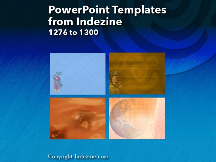 PowerPoint Templates from Indezine 052: Designs 1276 to 1300