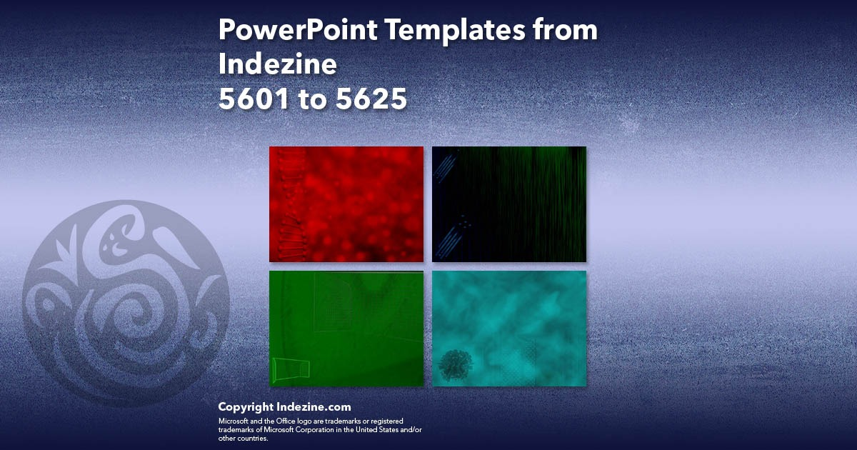 PowerPoint Templates from Indezine 225: Designs 5601 to 5625