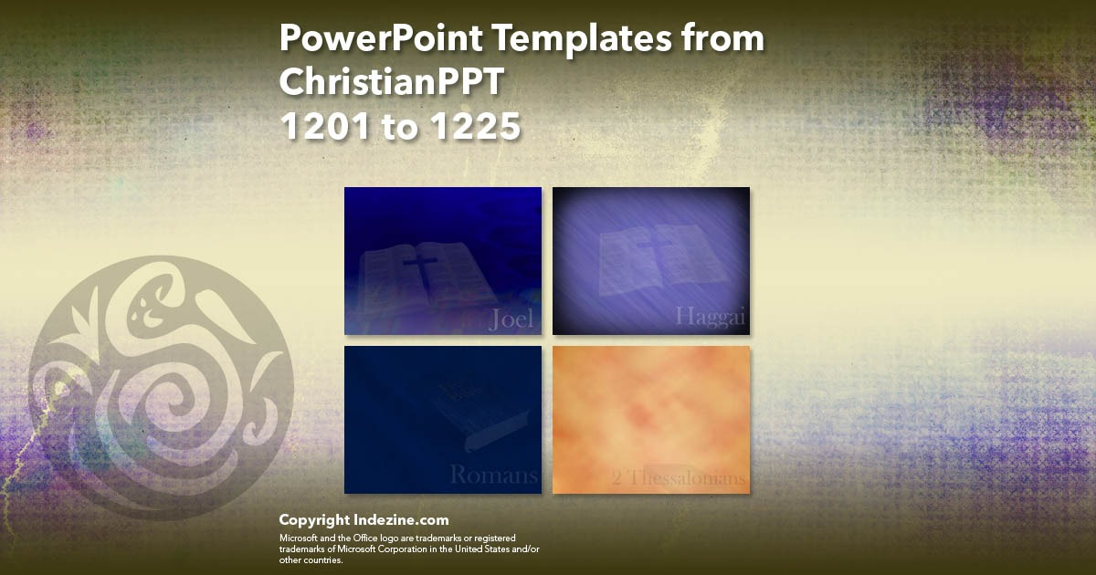 PowerPoint Templates from ChristianPPT 049: Designs 1201 to 1225