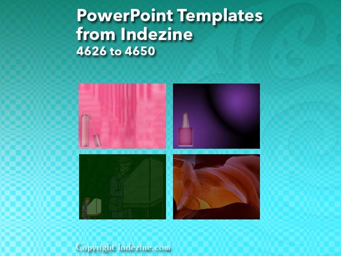 PowerPoint Templates from Indezine 186: Designs 4626 to 4650