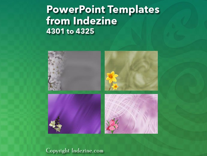 PowerPoint Templates from Indezine 173: Designs 4301 to 4325