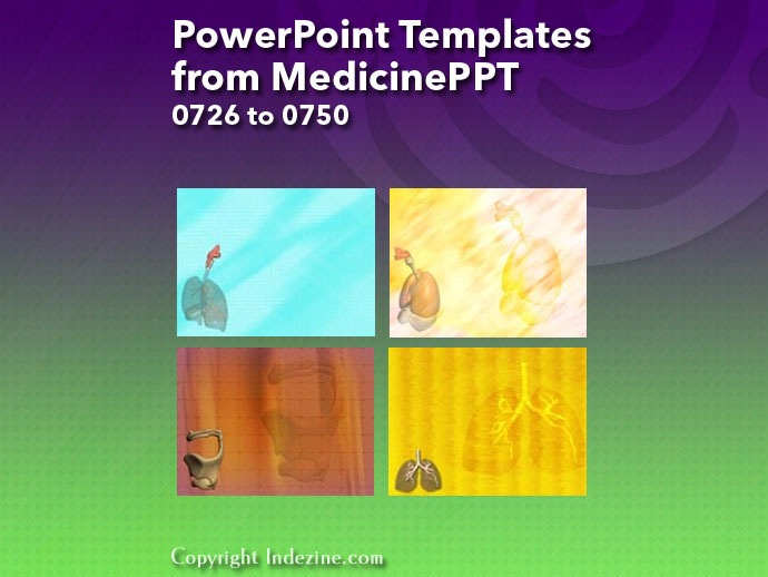 PowerPoint Templates from MedicinePPT 030: Designs 0726 to 0750