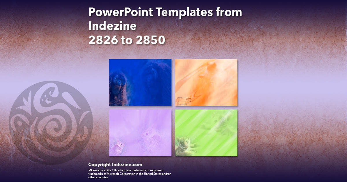 PowerPoint Templates from Indezine 114: Designs 2826 to 2850