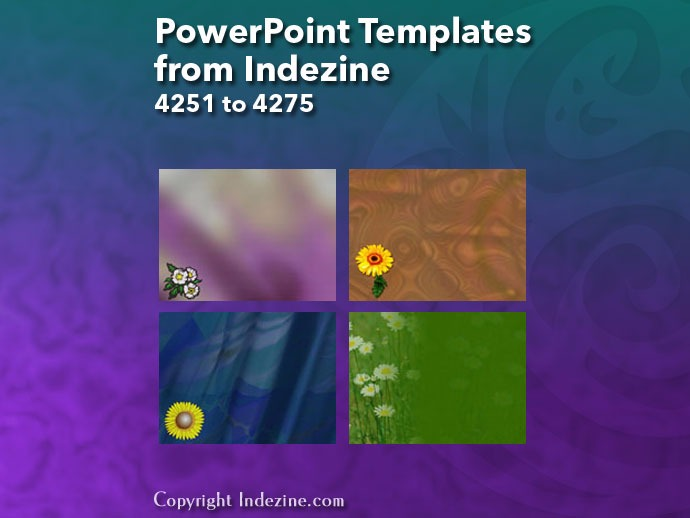 PowerPoint Templates from Indezine 171: Designs 4251 to 4275