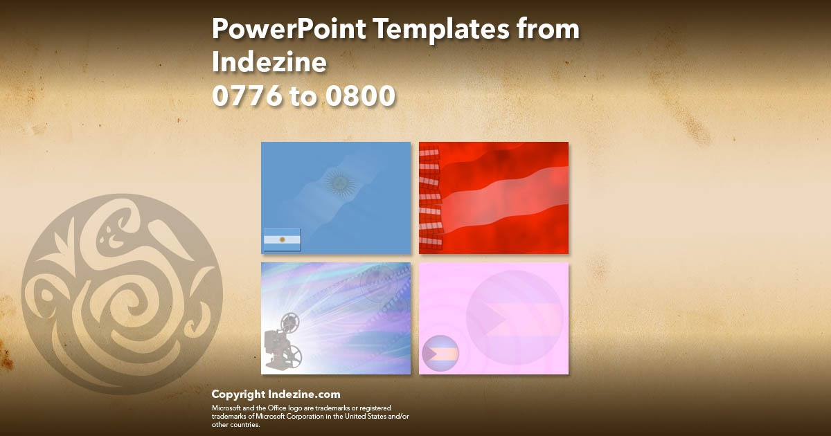 PowerPoint Templates from Indezine 032: Designs 0776 to 0800