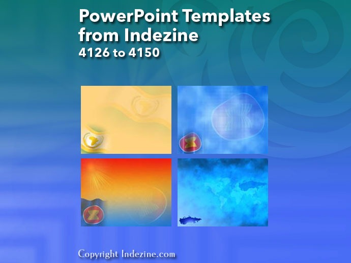 PowerPoint Templates from Indezine 166: Designs 4126 to 4150