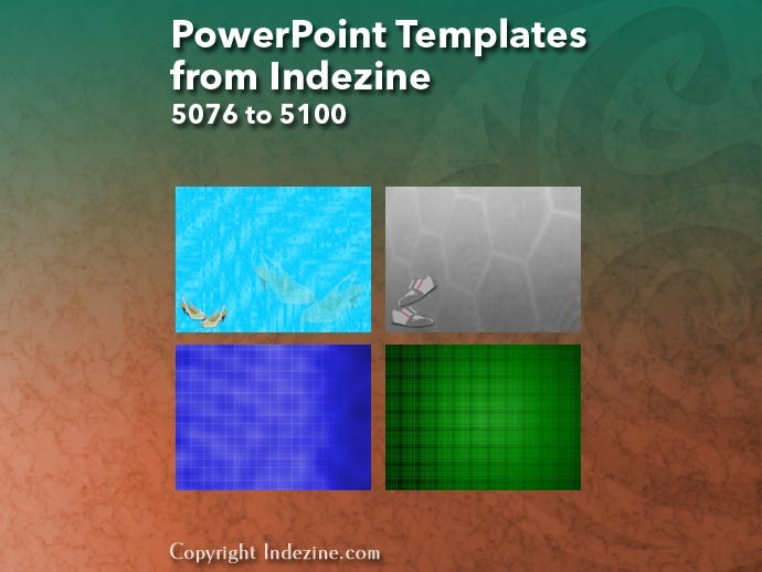 PowerPoint Templates from Indezine 204: Designs 5076 to 5100