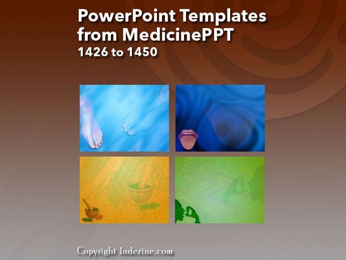 PowerPoint Templates from MedicinePPT 058: Designs 1426 to 1450