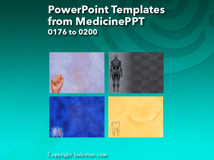 PowerPoint Templates from MedicinePPT 008: Designs 0176 to 0200