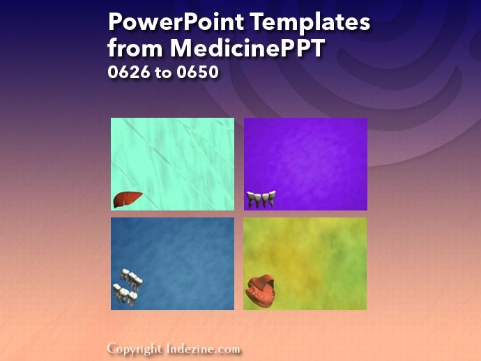 PowerPoint Templates from MedicinePPT 026: Designs 0626 to 0650
