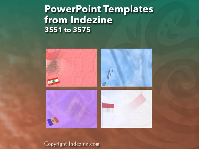 PowerPoint Templates from Indezine 143: Designs 3551 to 3575