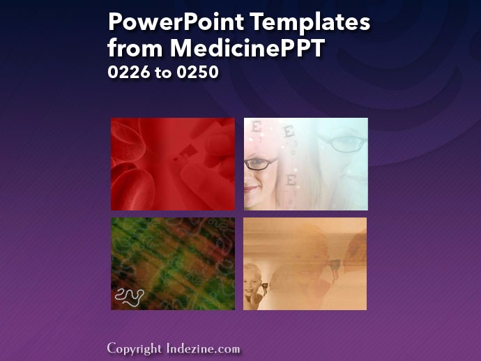 PowerPoint Templates from MedicinePPT 010: Designs 0226 to 0250
