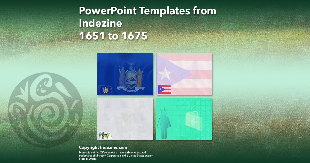PowerPoint Templates from Indezine 067: Designs 1651 to 1675