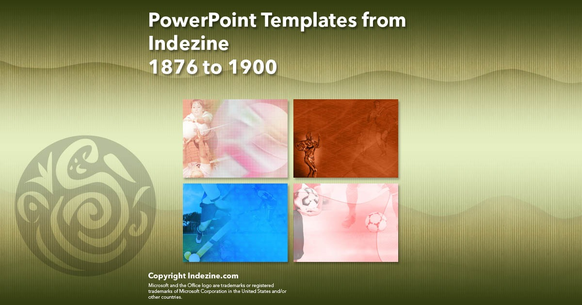 PowerPoint Templates from Indezine 076: Designs 1876 to 1900