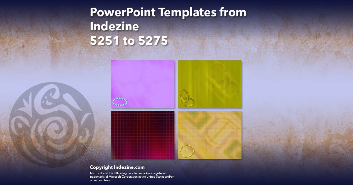 PowerPoint Templates from Indezine 211: Designs 5251 to 5275