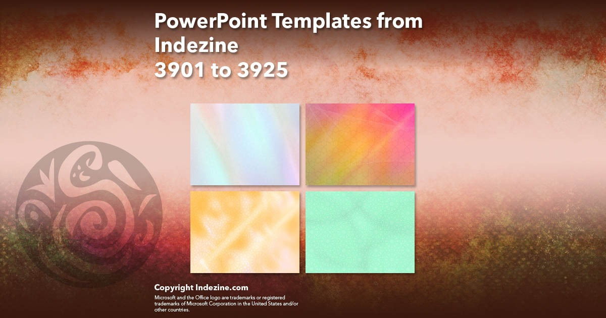 PowerPoint Templates from Indezine 157: Designs 3901 to 3925