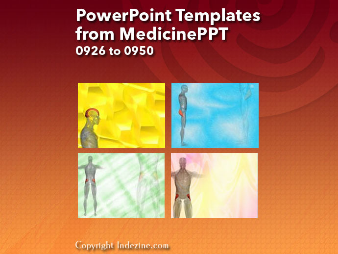 PowerPoint Templates from MedicinePPT 038: Designs 0926 to 0950