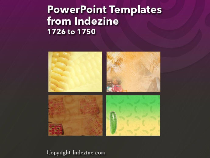 PowerPoint Templates from Indezine 070: Designs 1726 to 1750