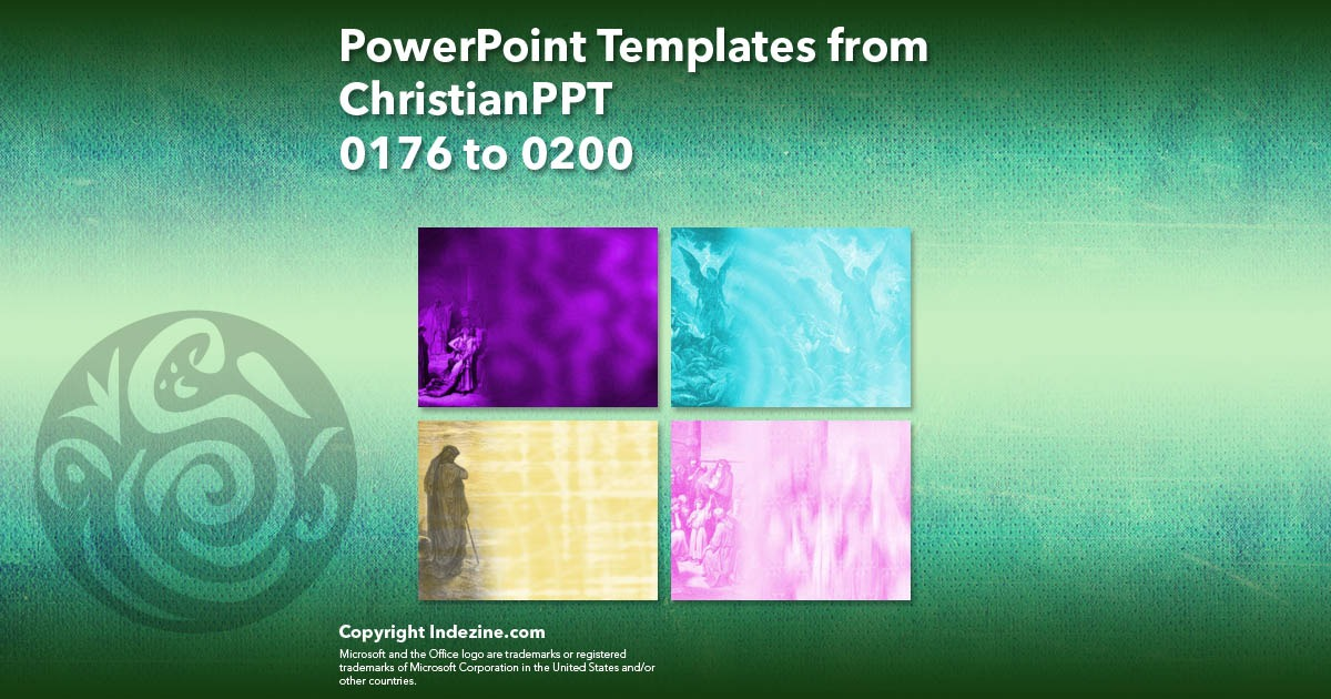 PowerPoint Templates from ChristianPPT 008: Designs 0176 to 0200