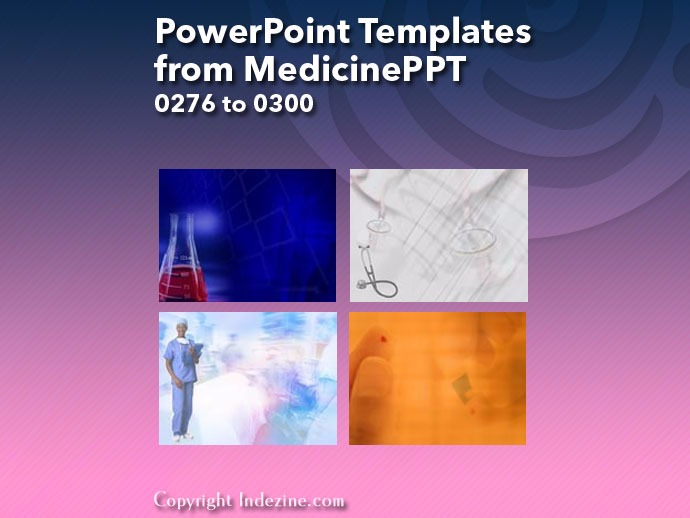 PowerPoint Templates from MedicinePPT 012: Designs 0276 to 0300