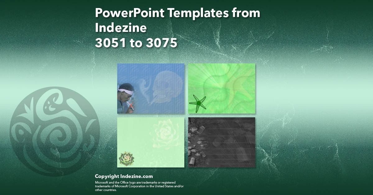PowerPoint Templates from Indezine 123: Designs 3051 to 3075