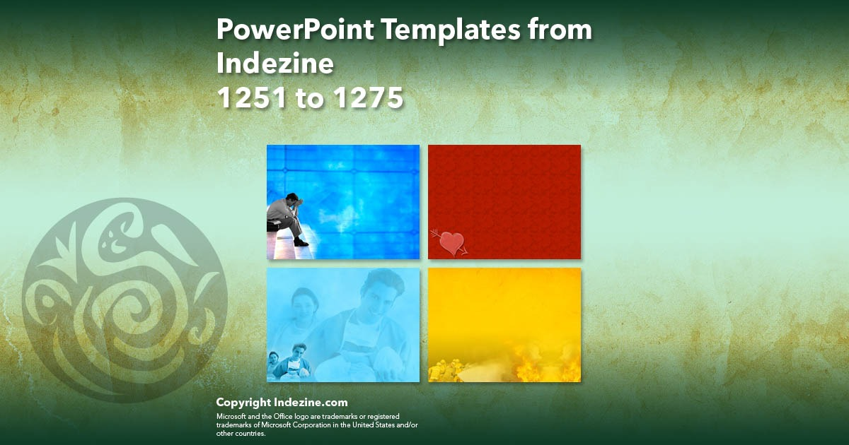 PowerPoint Templates from Indezine 051: Designs 1251 to 1275